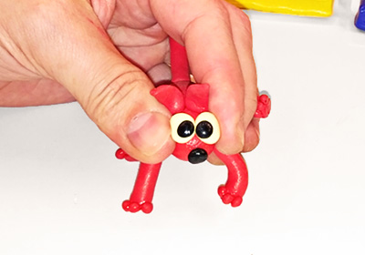 the rubber plasticine toy becomes elastic and flexible